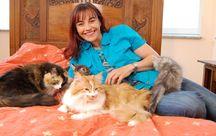 Diana Einhorn mit unseren Katzen